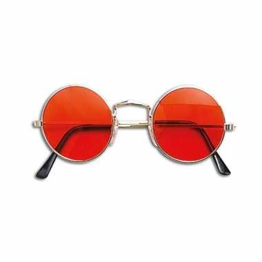 Ronde john lennon bril oranje