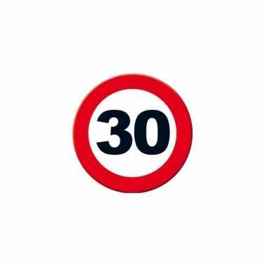 Ronde poster verkeersbord 30 jaar
