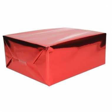 Rood cadeaupapier metallic