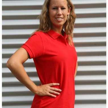 Rood dames poloshirts
