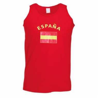 Rood heren shirtje met spaanse vlag