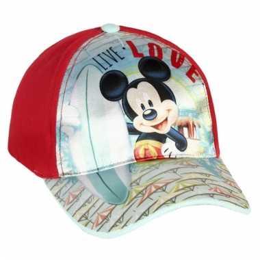 Rood kinderpetje van mickey mouse