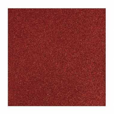 Rood knutsel papier glitter