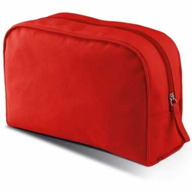 Rood make-up opberg tasje 5 liter