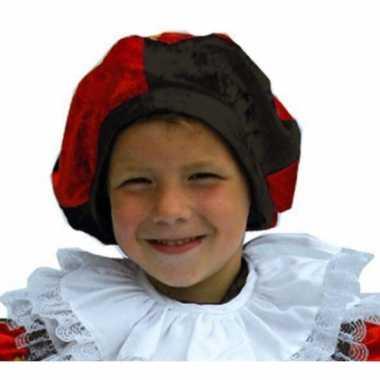Rood met zwarte pieten muts voor kids