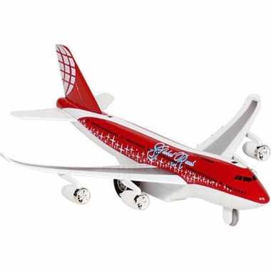Rood model vliegtuig met licht en geluid