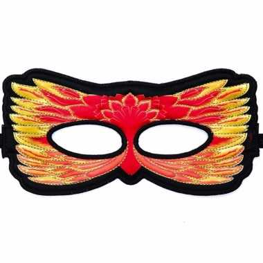 Rood oogmasker van een vuurvogel