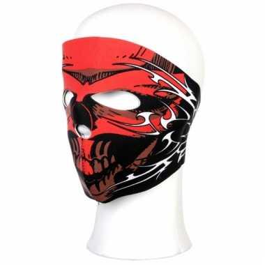 Rood warmtebestendig masker voor motorrijders
