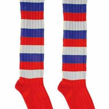 Rood wit blauwe feest sokken