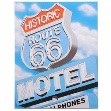 Route 66 decoratie muurplaat