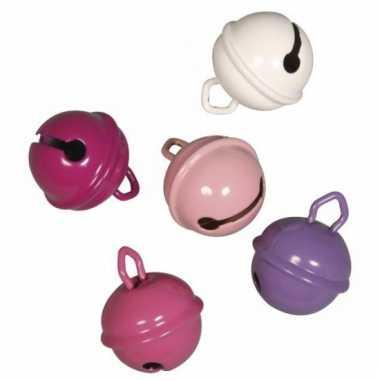 Roze belletjes 19 mm