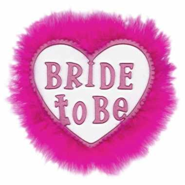 Roze bride to be broche