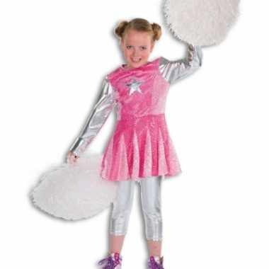 Roze cheerleaders kostuums voor meisjes