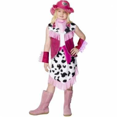 Roze cowgirl carnavalskleding kind