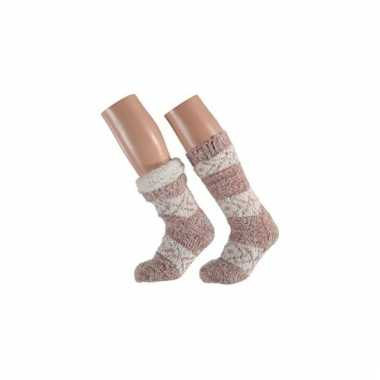Roze dames slof sokken