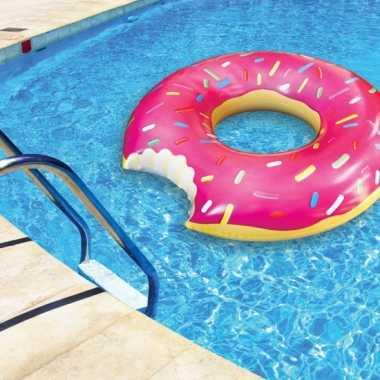 Roze donut zwemband