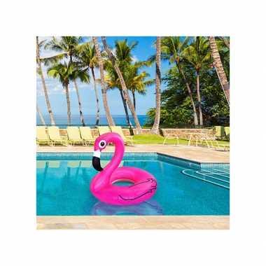 Roze flamingo zwemband