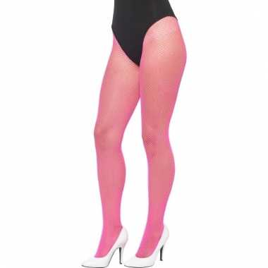 Roze gaatjes dames panty