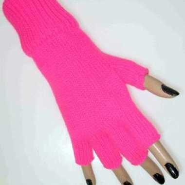 Roze handschoenen vingerloos