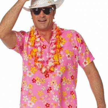 Roze hawaii overhemd