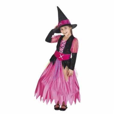 Roze heksen verkleed kostuum voor meisjes