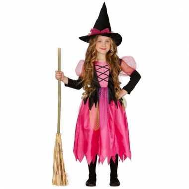 Roze heksen verkleedkleding voor meiden