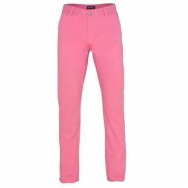 Roze heren broek van katoen