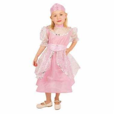 Roze jurk prinses voor kinderen