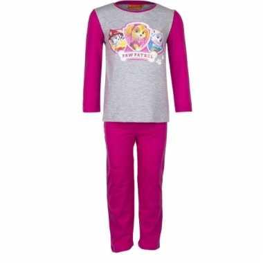 Roze kinder pyjama van paw patrol