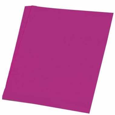 Roze knutsel papier 50 vellen a4