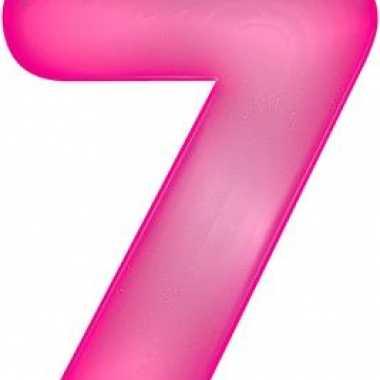 Roze opblaasbare getal 7