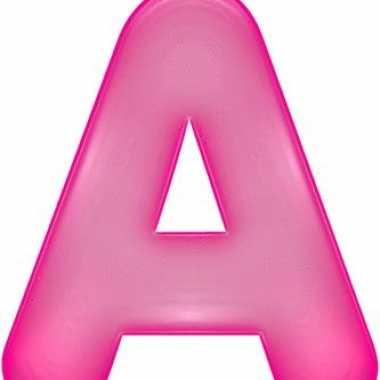 Roze opblaasbare letter a