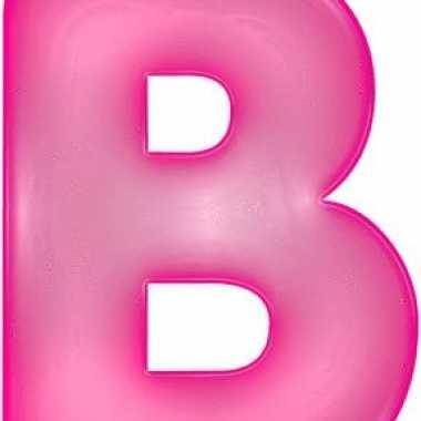 Roze opblaasbare letter b