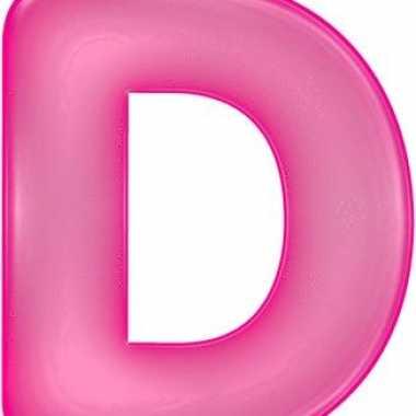 Roze opblaasbare letter d