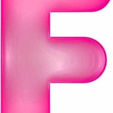 Roze opblaasbare letter f