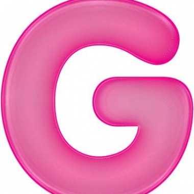 Roze opblaasbare letter g