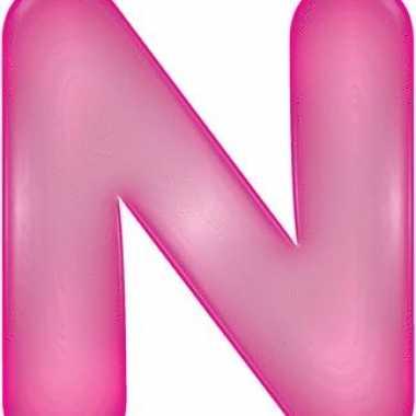 Roze opblaasbare letter n