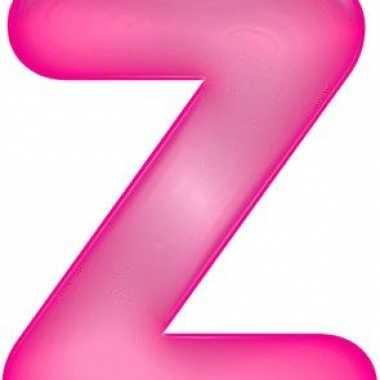 Roze opblaasbare letter z