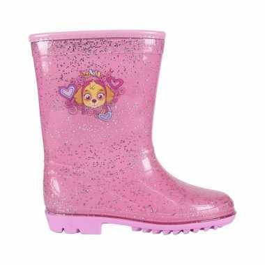 Roze paw patrol skye regenlaarzen voor kinderen