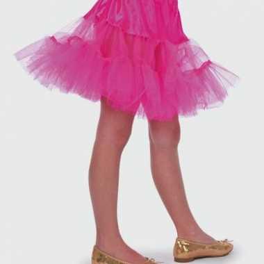 Roze petticoat rokje voor meiden