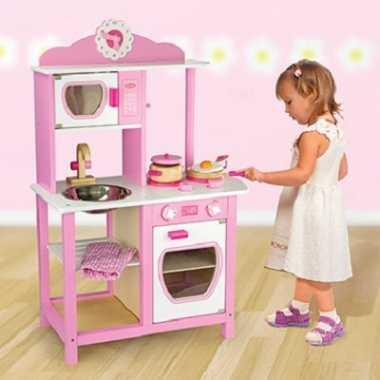 Roze prinsessen keuken voor kids