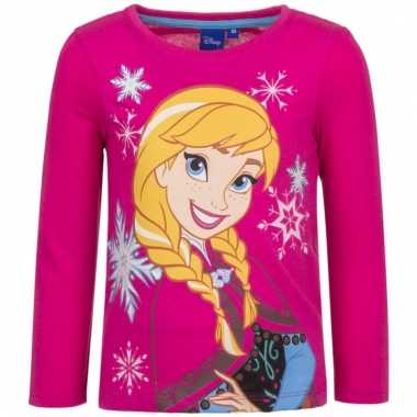 Roze shirt met anna van frozen