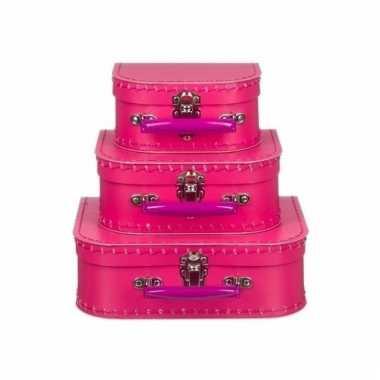 Roze speelgoedkoffer 20 cm