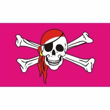 Roze vlag piraat