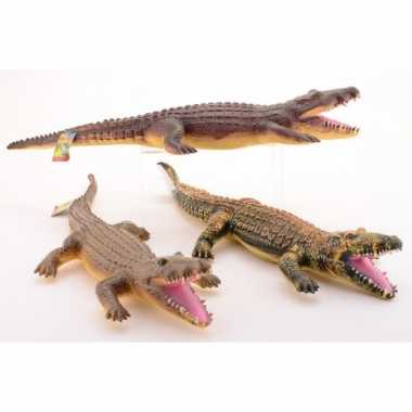 Rubber krokodil decoratie