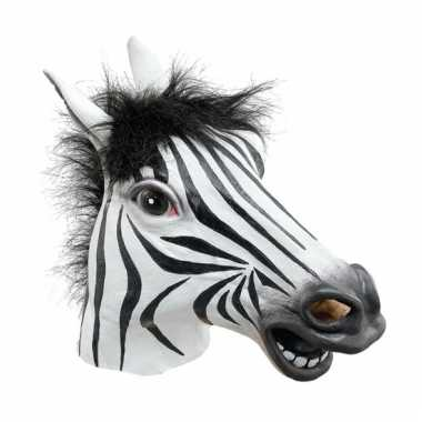 Rubberen masker zebra