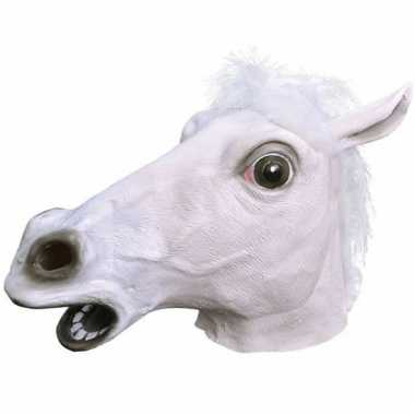 Rubberen paarden maskers wit