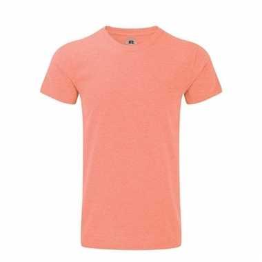 Rusell basic t-shirt koraal rood voor mannen