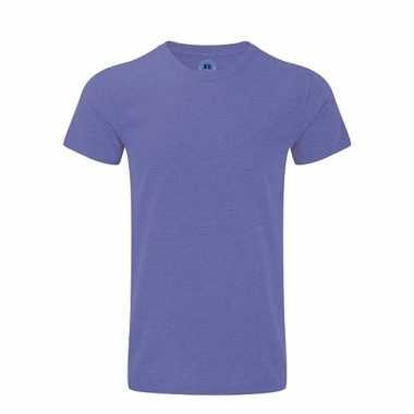 Rusell basic t-shirt paars voor mannen