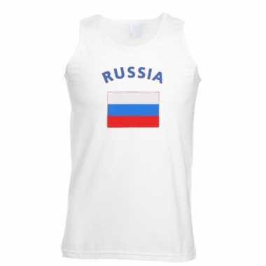 Rusland vlaggen tanktop/ t-shirt